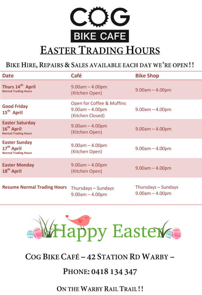 Easter Trading Hours 2017
